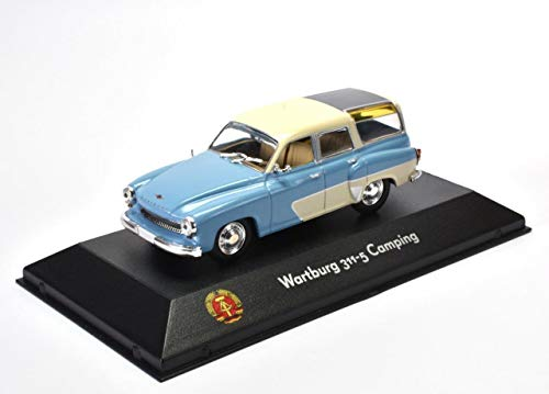 Wartburg 311-5 Camping DDR Fertigmodell 1:43 in Vitrine