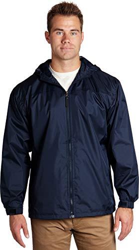 Mens Navy Blue Windbreaker Jackets | Blue Golf Jackets for Men with Hood | Navy Blue Zipper Hoodie Mens | Dark Navy Blue Extra Large Men s Waterproof Rain Jacket (Navy, XL) - éb79