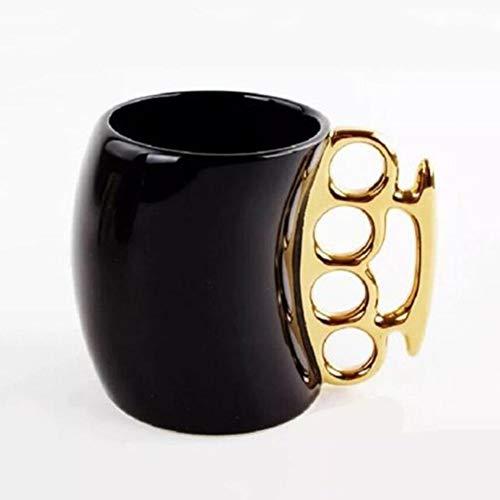 Zidao Becher, Tasse Isolierbecher Kreative Tasse Schlagring Tasse Keramik Kaffeetasse Porzellan Kaffeetasse Mit Schlagring Neuheit Geschenke Kaffee,Gold