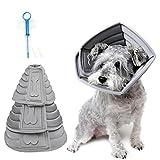 Realove Halskrause Hund Schützender Hundekragen Schutzkragen Krägen Wiederherstellung Schutzhalsbandfür Haustiere (L)