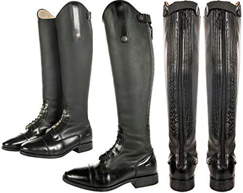 HKM SPORTS EQUIPMENT buty do jazdy konnej -Sevilla Teddy-, długość/wąska szerokość, czarne, 41