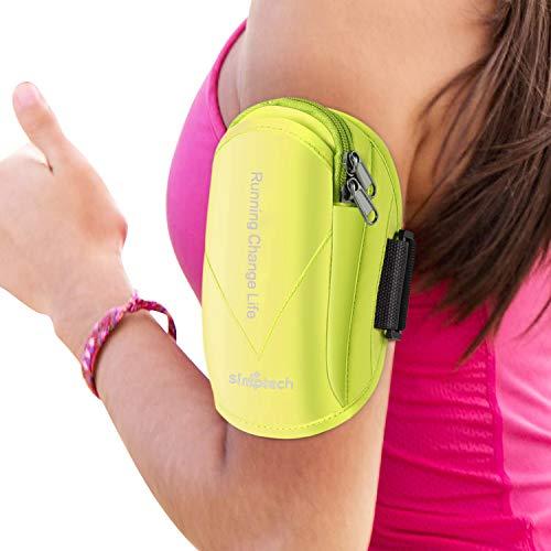 Simptech -Brazalete Movil Running Deportivo, Funda Porta Movil Portamoviles para Correr Gimnasio Deporte,para iPhone 11 Pro MAX/XR/XS Max/X/8/7 Plus,Huawei P30 Mate 30,XIAOMI