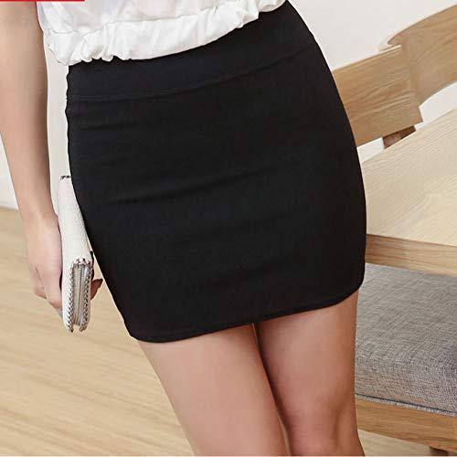 DAHDXD Frauen hohe Taille elastischer Super Mini Rock Office Lady Short