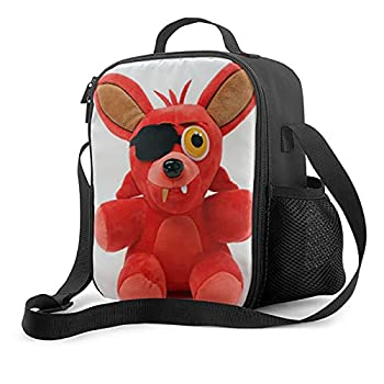 Fnaf Plush Foxy Comfort Tee It S Me Insulated Lunch Bag Reusable Lunch Box For Office Work School Leakproof Cooler Tote Bag Freezable Lunch Bag With Adjustable Shoulder Strap For Kids Adult