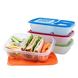 EasyLunchboxes 3-Compartment Bento Lunch Boxes