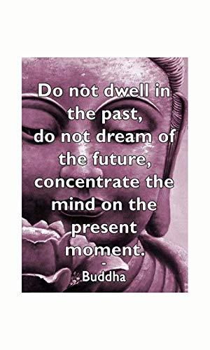 GEDSING Metal Hanging Sign Buddha Inspirational Meditation Quote Wall Door Plaque Gift Cafe bar Home Wall Art Decoration Poster Retro 8x12 Inches