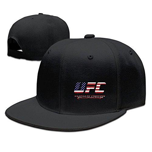 Yhsuk UFC Championship MMA Unisex Fashion Cool Adjustable Snapback Baseball Cap Hat One Size Black