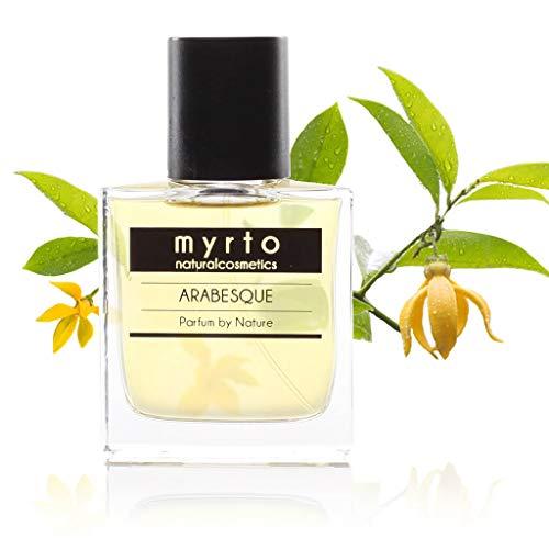 myrto – Bio Naturkosmetik Parfum - ARABESQUE – naturreines Eau de Parfum für Frauen und Männer | ohne synthetische Duftstoffe - vegan - in Glasflakon mit Zerstäuber - 50ml