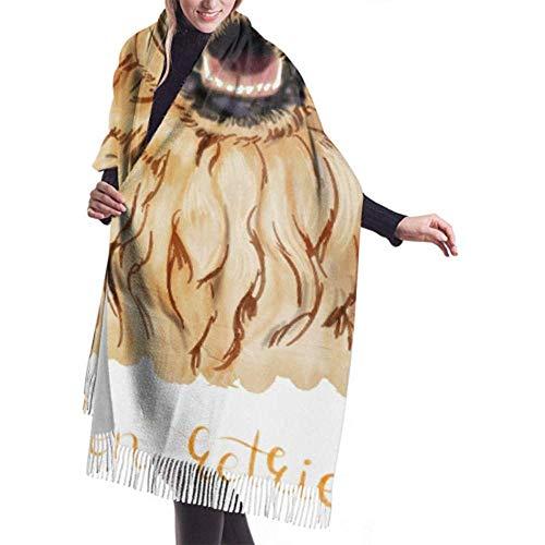 Wrap Wrap Schal, weich, gelb, Lächeln, für Golden, Retriever, leicht, Kaschmir, elegant, große Decke