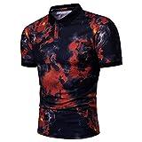 Lfly Polo T-Shirt Uomo Camicie Maniche Corte Stampa Uomo T-Shirt Sportiva Traspirante Polo Slim Fit Basic Polo Uomo Basic Polo Uomo Polo Felpa Manica Corta M