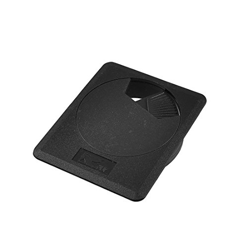 DyniLao Organizador de arandelas de plástico para cubierta de cables de mesa de escritorio, 60 mm, negro