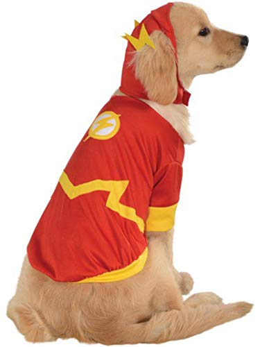 Rubies Kostüm DC Heroes and Villains Collection Pet Costume-Flash, l, Mehrfarbig