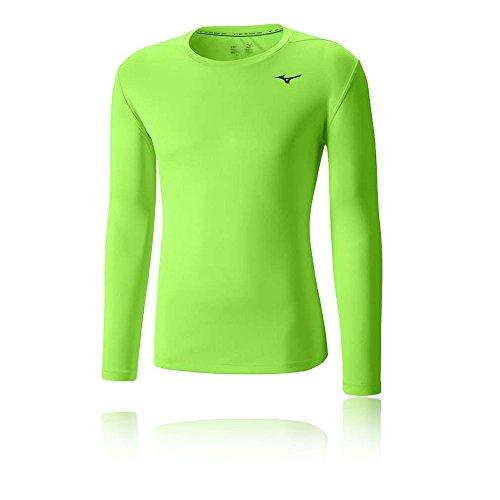 Mizuno Drylite Core L/S, T-Shirt de Course pour Homme XL Verde (Greengecko)