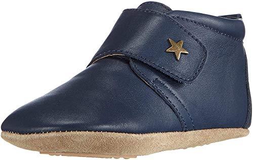 Bisgaard Unisex Baby Velcro Star Pantoffeln, Blau (21 Navy), 22 EU