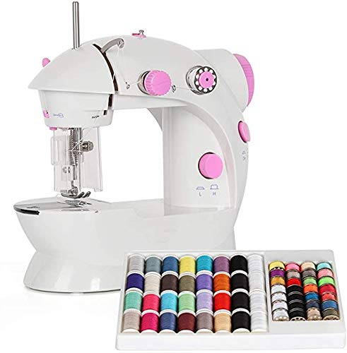 Mini Sewing Machine,Dual Speed Portable Sewing Machine with Needle protector,60 Piece Sewing Thread Kit