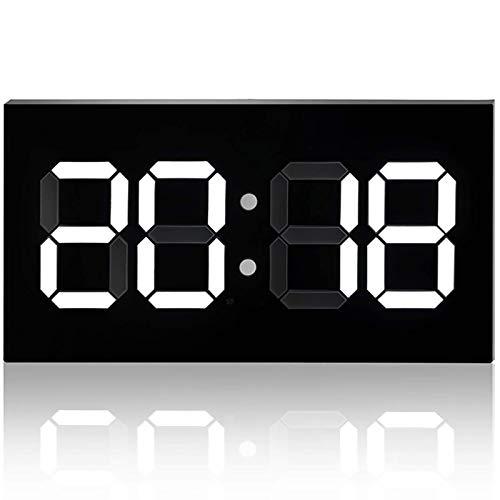 Reloj de pared LED de acrílico de 14 pulgadas ultra delgado con control remoto Nordic Creative Full HD Relojes electrónicos para el hogar, conferencias, competición, blanco FDWFN (color: blanco)