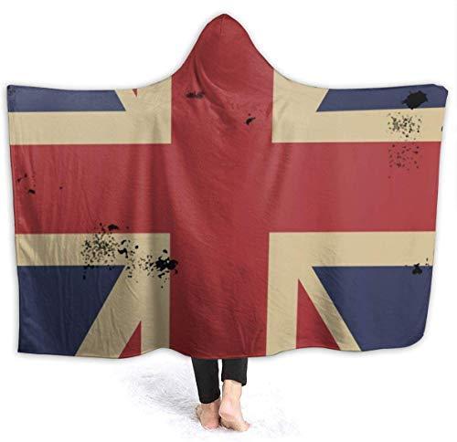 KERYNP Manta de Sofá de Lana,Flag of England Hooded Fleece Blanket Throw Luxury Flannel Velvet Plush Throw Blanket Fluffy & Soft Plush for Couch Bed Sofa