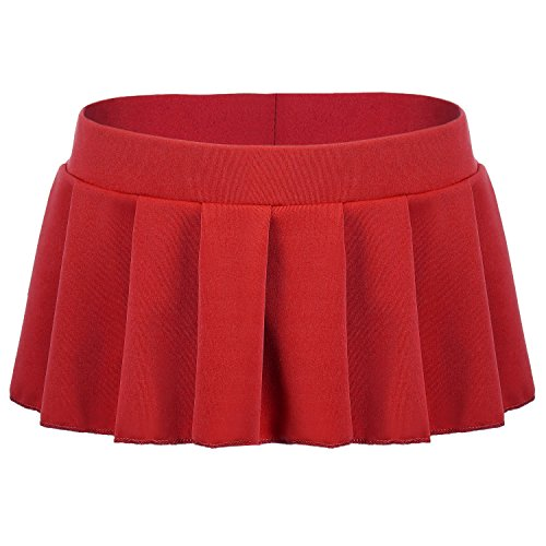 Avidlove Mini Rock Schulmädchen Skirt Damen Kurz Minirock Röcke Frauen Sexy Dessous Solid gefaltet Nachtwäsche Reizvolle
