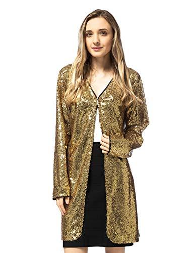 70er Jahre Outfit: Jacke mit Pailetten