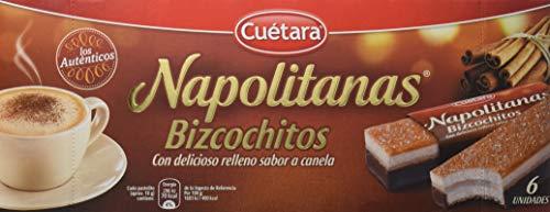 CUETARA Napolitanas bizcochitos con relleno sabor canela caja 6 uds