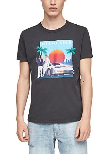 Q/S designed by - s.Oliver Herren 2064143 T-Shirt, Dark Grey Placed Print, XXL