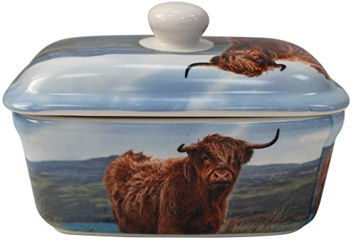 Lenoardo Collection Top Fine China Highland Kuh Butterdose in Geschenkbox