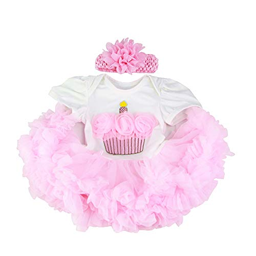 Tutu Pink Crown Reborn Baby Dolls Clothes for 20-23 Inch Pure Handmade 2 Pieces Reborn Doll Baby Girl Clothing Set