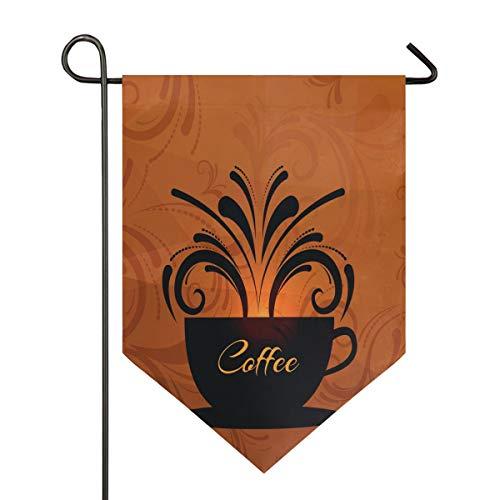 DEZIRO Kaffeetasse mit Gartenflagge, vertikal, doppelseitig, farbenfrohes Design für alle Jahreszeiten und Feiertage, Polyester, 1, 28x40in