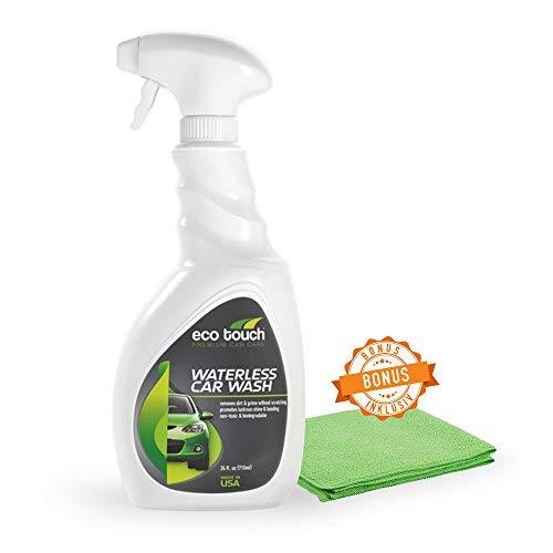 Autowäsche ohne Wasser - Waterless Car Wash - Trockenwäsche mit GRATIS Mikrofaser Tuch - Bio Trockenreinigung - Intensiv Wasserloses Auto Waschen - Profi Spray, Lackreiniger - 500 ml Sprühflasche
