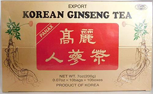 Bebida Te de Ginseng Coreano Soluble en Polvo 100 Sobres de 2 gr Tierra de Colores
