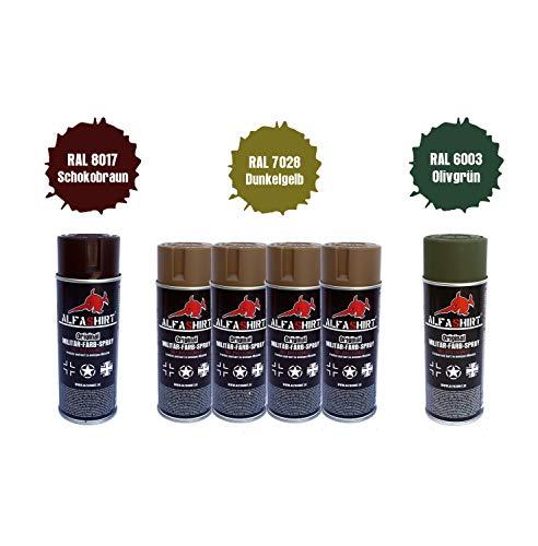 Wh Tarn Set x1 RAL 6003_x1 RAL 8017_x4 RAL 7028 Farb Sprays Spraydosen #25396