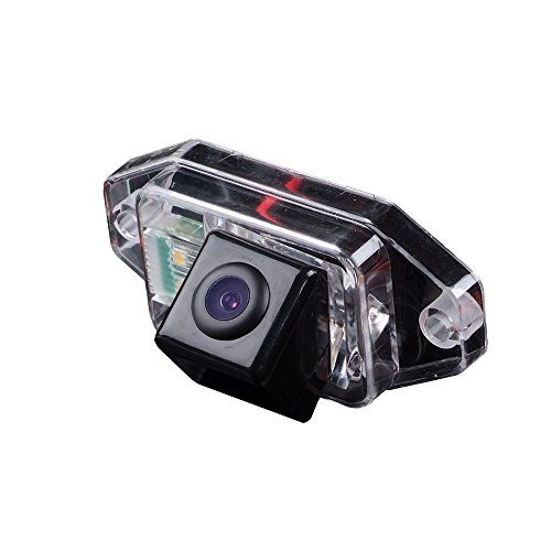 170° Viewing Reversing Track Camera Ruler Line with The Steering Wheel Moving Rear View Backup Trajectory Camera Parking Assist System, Night Vision CCD for Land Cruiser 120 Series Prado