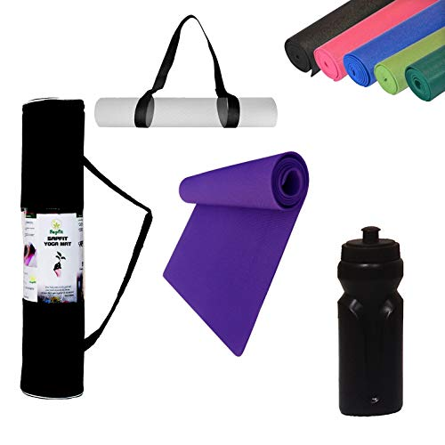 Sapfit Anti-Skid Eva Durable Yoga Mat with Free Carry Bag Strap N Sipper (4 in 1 Combo) for Men and...