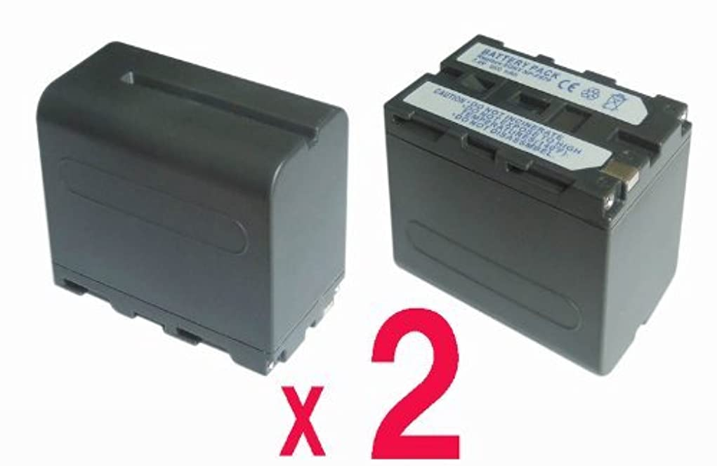 優先権スペードホース【2個セット?残量表示付】 ソニー Sony NP-F960 NP-F970 互換 バッテリー の 2個セット CCD-TR1 CCD-TR200 CCD-TR300 等対応