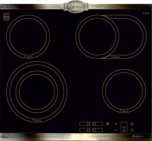 Kaiser Empire Plaques en vitrocéramique 60 cm/métal Bronze/ fabricant Kaiser/ vitrocéramique avec 4 High Light Zones de Cuisson/ laque de cuisson encastrable