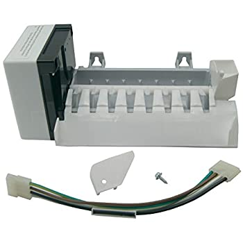 Supplying Demand 2198597 Refrigerator Freezer 8 Cube Icemaker Assembly Replacement With Wiring Harness