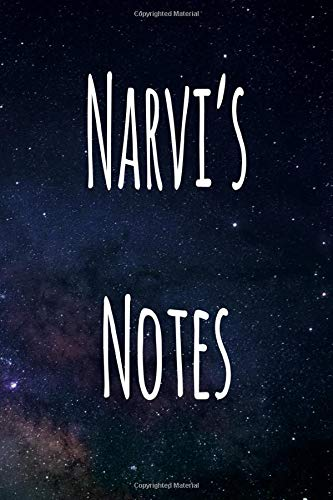Narvi's Notes: Personalised Name Notebook - 6x9 119 page custom notebook- unique specialist personalised gift!