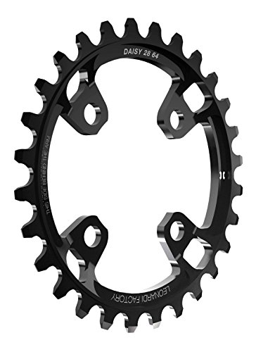Leonardi Factory Daisy BCD 64 Plato De Bicicleta, Hombre, Negro, 28
