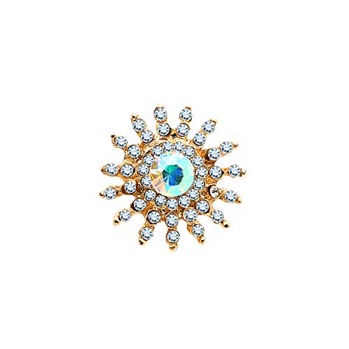 KENYG Exquisite Kristall Sonne Form Schmetterling Clutch Krawattennadeln Pferd Thorn Nadel Brosche Anstecknadeln 2 Stück