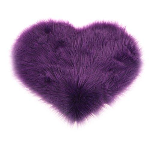 Sharplace Herz Form Teppich Kinderzimmer Weich Plüsch Kinderteppich für Schlafzimmer Wohnzimmer - Lila