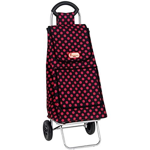 ZBYY Carros de la compra, carro de compras ligero plegable Push-pull carro, supermercado supermercado pequeño remolque equipaje carro rojo gran capacidad impermeable