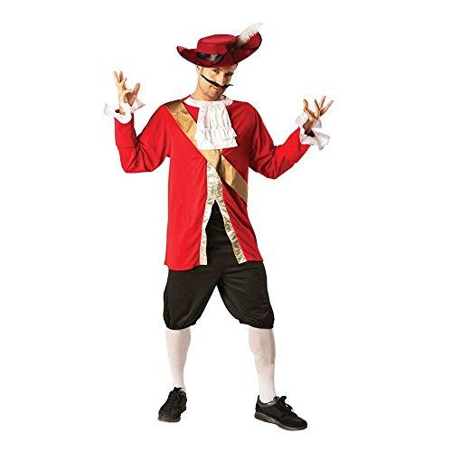 Rubie 's Captain Hook Offizielles Herren 's Fancy Dress Book Woche Pirat Kostüm für Erwachsene Outfit + Hat
