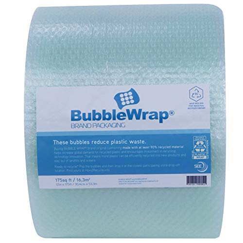 """Sealed Air - 101069557 Recycled Content Bubble Wrap Brand Bubble Cushioning, 12"""" x 175"""