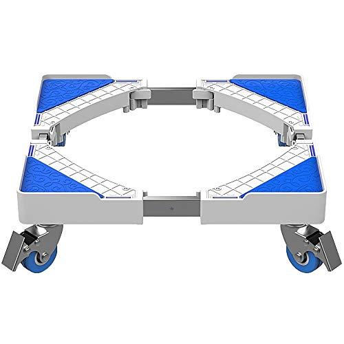 QINGMM Socle Lave Linge, Base réglable Mobile multifonctionnelle, Support d'appareils ménagers avec Support télescopique pour Machine à Laver, sèche-Linge et réfrigérateur,A