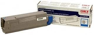Okidata 43381903 C5500 C5650 C5800 Toner Cartridge (Cyan) in Retail Packaging