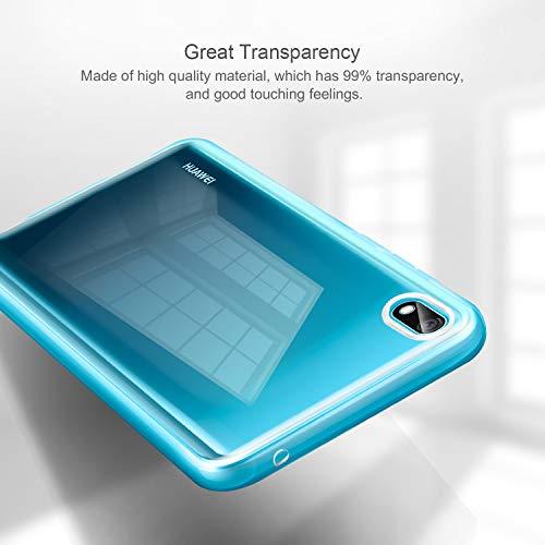 Leathlux Huawei Y5 2019 Hülle + [2 Pack] Panzerglas, Huawei Y5 2019 Durchsichtig Case Transparent Silikon TPU Schutzhülle Premium 9H Gehärtetes Glas für Huawei Y5 2019 - 7