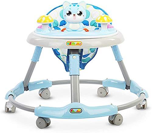 Baby Walkers Baby Dreumes First Steps Assistant Walkers for meisjes vanaf 6 maanden Boys Girls From, Green loopstoeltjes vanaf 6 maanden (Color : Blue)