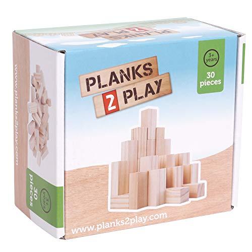Plankor 2 Play – 30 små träpelare