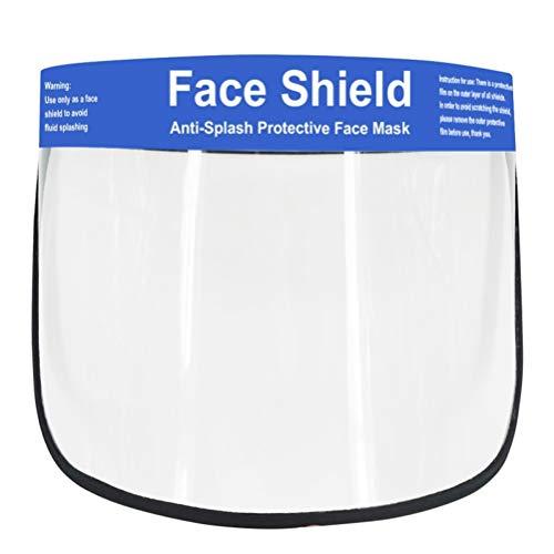 Hemoton Gesichtsschutzschild Gesichtsschild Gesichtsschutzschirm Staubmaske Schutzhelm PVC Gesichtsschutz Helm für Ärzte Krankenhaus Küche Outdoor Arbeit Freischneider
