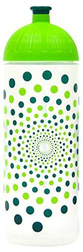 ISYbe Original Marken-Trink-Flasche für Kinder und Erwachsene, 700 ml, BPA-frei, Punkte-Motiv, geeignet für Schule, Reisen, Sport & Outdoor, Auslaufsicher auch mit Kohlensäure, Spülmaschine-fest